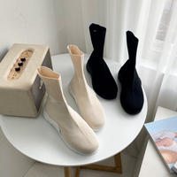 韓国ファッション★シンプルソックスブーツ 2色