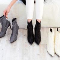 韓国ファッション★ピンヒールショートブーツ 3色