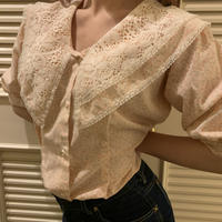 baby pink flower blouse