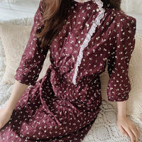 classical flower  one-piece