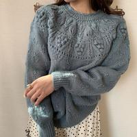dusty blue winter knit