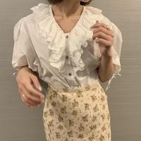 cotton frill vintage blouse