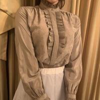 antique moca frill blouse