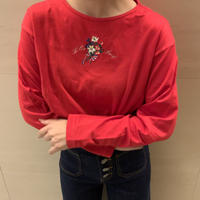 embroidered red tops