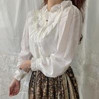 frill white vintage blouse