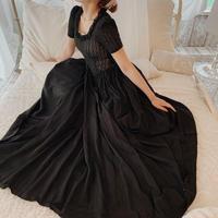 40's black classical vintage dress