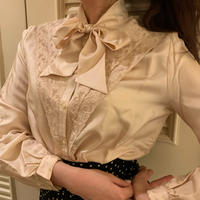 Baby pink Ribbon tie blouse
