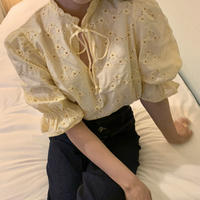yellow cotton lace tops