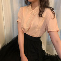 salmon pink vintage blouse