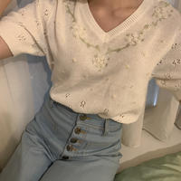 embroidered retro summer knit