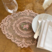 embroidered flower lace rag