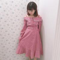 181SK21 ギンガムフレアスカート