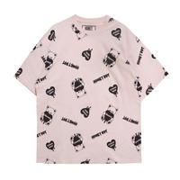 192CS0423<Unisex>プリント総柄Tシャツ