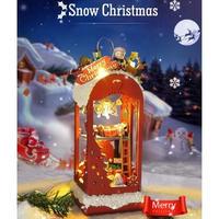 CUTEBEE ドールハウス 1:24 クラフトキット 手作り DIY ミニチュア LED 北欧 クリスマス2