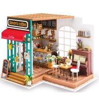 DIY HOUSEドールハウス 1:24 クラフトキット 手作り   ミニチュア サイモンコーヒー