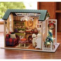 CUTEBEE ドールハウス 1:24 クラフトキット 手作り DIY ミニチュア ホリデータイム クリスマス