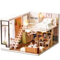 CUTEBEE ドールハウス 1:24 クラフトキット 手作り DIY ミニチュア LED 洋風ハウス2