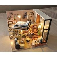 ドールハウス 1:24 クラフトキット 手作り  DIY LED付 エレガントルーム5