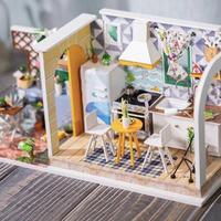 ドールハウス 1:24 クラフトキット 手作り DIY ミニチュア ダイニングキッチン