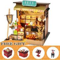 CUTEBEE ドールハウス 1:24 クラフトキット 手作り DIY ミニチュア LED 中華スタイル 茶屋