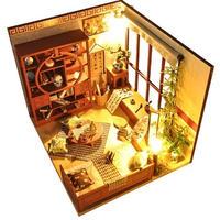 【ドールハウス】手作りDIYキット ミニチュアハウス LEDライト付 中華風ハウス3
