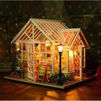 ドールハウス 1:24 クラフトキット 手作り  DIY LED付 ミニチュア 花屋