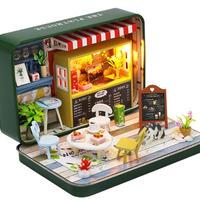 【ドールハウス】手作りDIYキット  ミニチュアハウス BOX カフェ