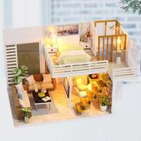 ドールハウス 1:24 クラフトキット 手作り  DIY LED付 エレガントルーム3