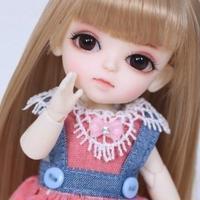 【BJD 1/8カスタムドール】ルミ お洋服&ウィッグフルセット
