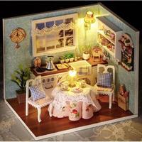 CUTEBEE ドールハウス 1:24 クラフトキット 手作り DIY ミニチュア ダイニングキッチン