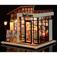 ドールハウス 1:24  クラフトキット 手作り  DIY LED付  ミニチュア  本屋