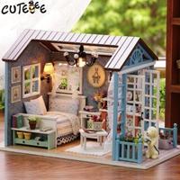 CUTEBEE ドールハウス 1:24 クラフトキット 手作り DIY ミニチュア フォレストタイム