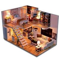 ドールハウス 1:24 クラフトキット 手作り  DIY LED付 エレガントルーム1