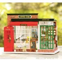 ドールハウス 1:24 クラフトキット 手作り DIY ミニチュア コーヒーショップ カフェ
