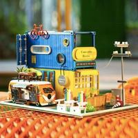 ドールハウス 1:24 クラフトキット 手作り DIY ミニチュア ビストロ バス
