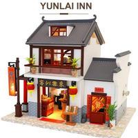 CUTEBEE ドールハウス 1:24 クラフトキット 手作り DIY ミニチュア LED 中華料理屋