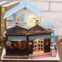 ドールハウス 1:24 クラフトキット 手作り DIY ミニチュア コーヒー&ドーナツショップ