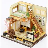 CUTEBEE ドールハウス 1:24 クラフトキット 手作り DIY ミニチュア LED 和室