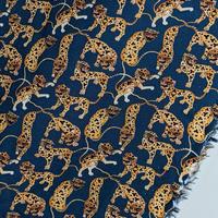 ◆輸入 リバティ LIBERTY タナローン Heads and Tails A Blue&Orange ヘッズアンドテールズ A ブルー&オレンジ 約130×50cm