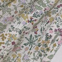 ★輸入 リバティ LIBERTY オーガニックタナローン Field Flowers A フィールドフラワーズ A ピンクイエロー 約135×50cm