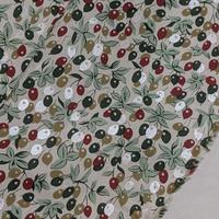 ◇国産 リバティ LIBERTY タナローン Berry Bouquet ベリーブーケ レッド&グリーン DC31039-J20D 約108×50cm