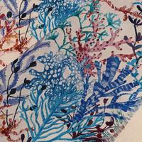 説明欄確認要◆輸入 リバティ LIBERTY タナローン Reef  Blue リーフ ブルー 約130×50cm
