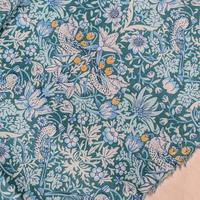 カットクロス💎輸入 リバティ LIBERTY タナローン Strawberry Thief Turquoise  ★ ストロベリーシーフ ターコイズ 約65×50cm