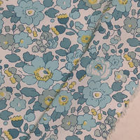◆輸入 リバティ LIBERTY タナローン Betsy Mint and Lemon ベッツィ ミント&レモン 約135×50cm