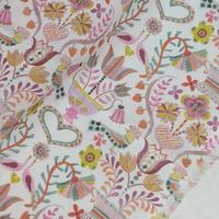 ◆輸入 リバティ LIBERTY タナローン Love Birds Pink ラブバード ピンク 約135×50cm