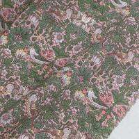 ★輸入 リバティ LIBERTY オーガニックタナローン Strawberry Thief  Spring  B ストロベリーシーフスプリング  B ピンク 約135×50cm