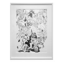 Acky Bright / 【BORDER LINE】複製原画 collage(A2)/ Reproduction original collage (A2)