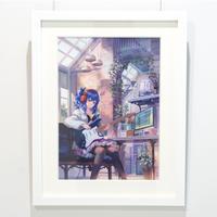 電鬼 /【引きこもりっ子】複製原画 額装
