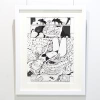 あき /【引きこもりっ子】複製原画 額装