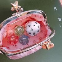 #アストロダイサー ぴめピンクモデル ラメ金星ダイス+30面ダイスホワイトセット (ゆうパック送料込)